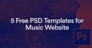 5 templates de site web d'artistes gratuits en version PSD