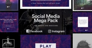 Social Media PSD for Musician and Artists