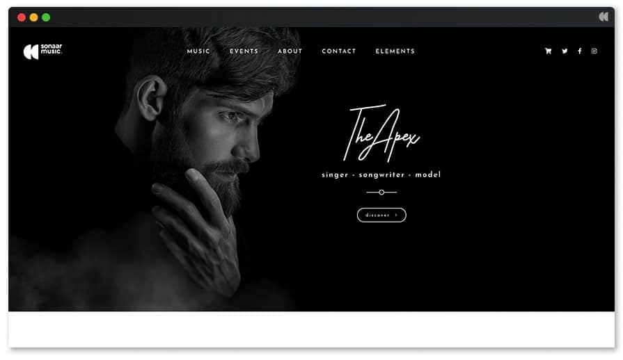 Apex Best Musician WordPress Theme
