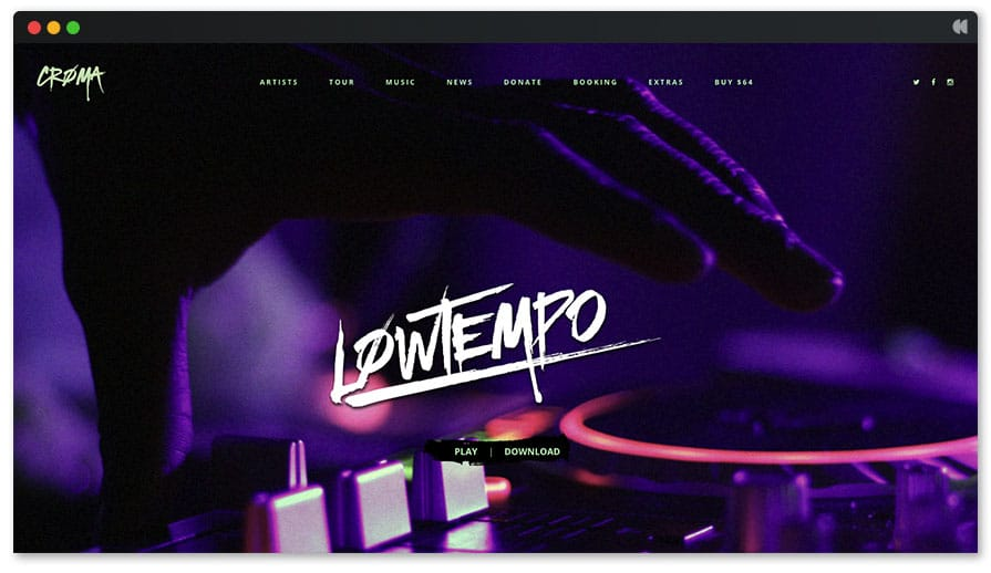 Recording Studio WordPress Theme - Croma