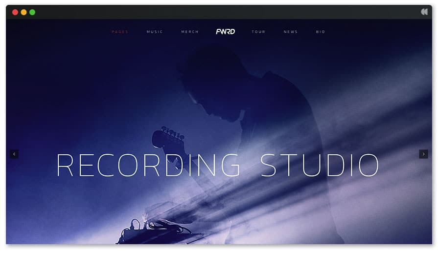 Recording Studio WordPress Theme - FWRD