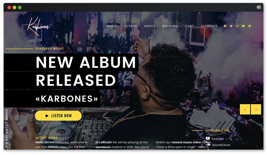 karbones-music-wordpress-theme