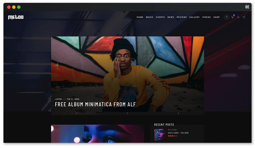 Recording Studio WordPress Theme - Meloo