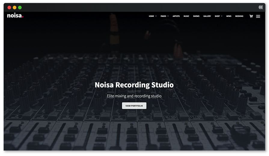 Recording Studio WordPress Theme - Noisa