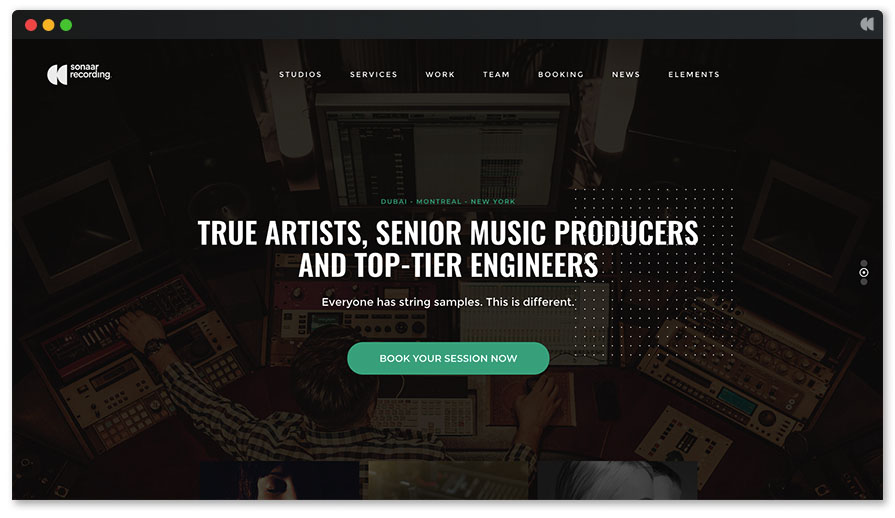 Recording Studio WordPress Theme - Studio