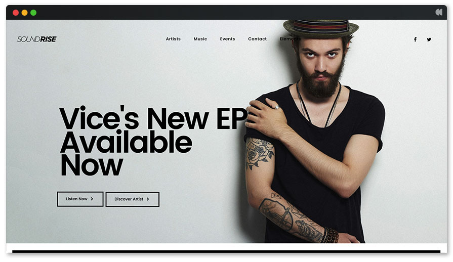 Recording Studio WordPress Theme - Vice