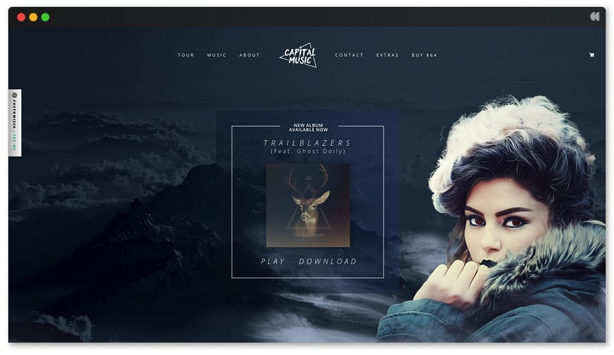 Croma - WordPress template for DJ Website
