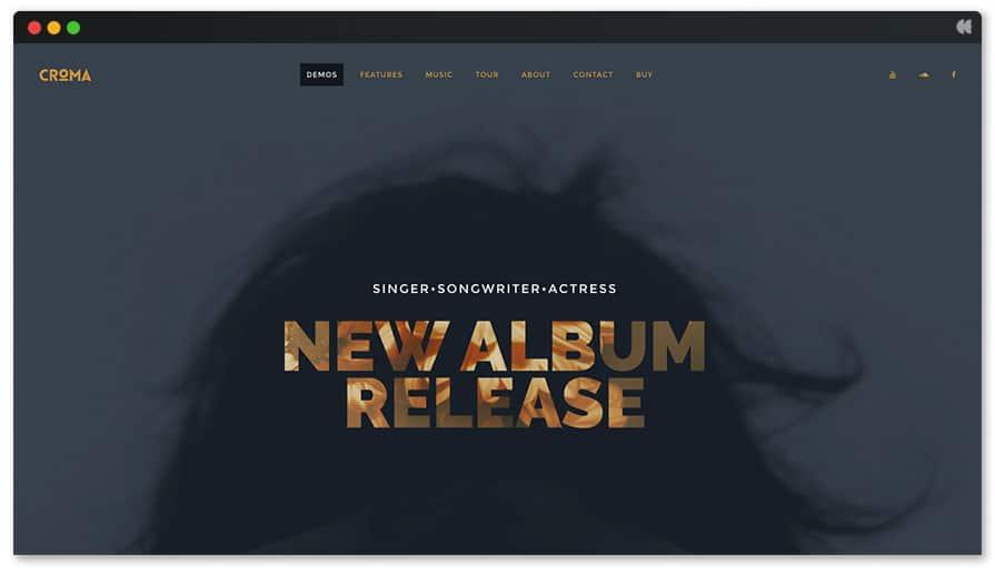 Croma - WordPress theme for singer