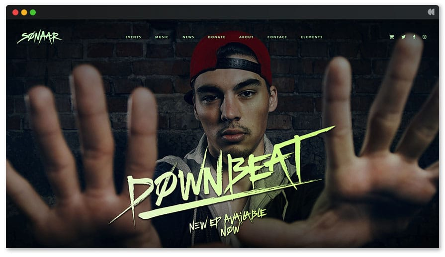 Downbeat WordPress theme for DJ