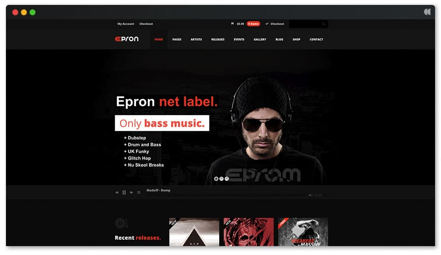Epron DJ WP Theme