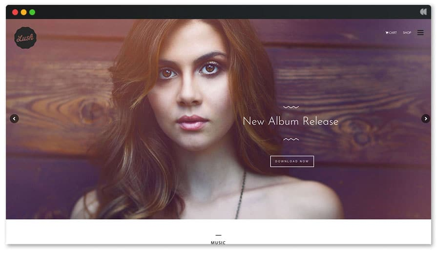 Hipster Lush Singer WordPress theme