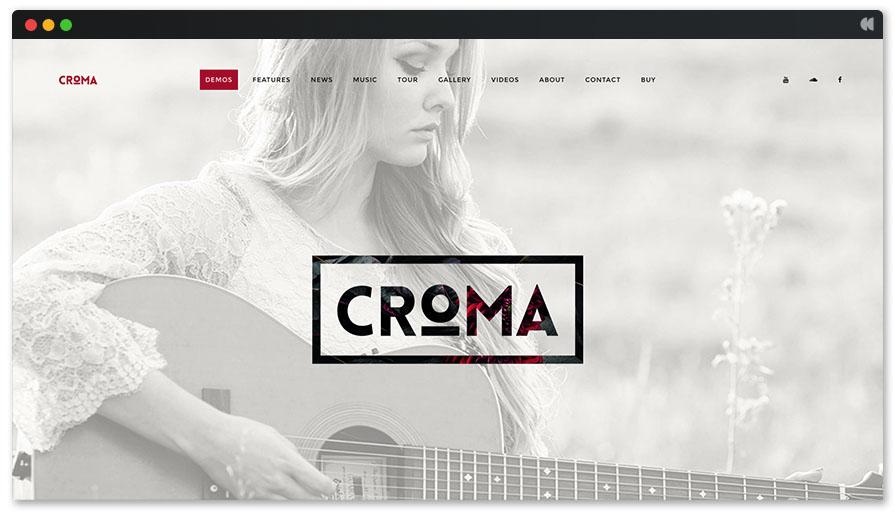 Croma Light WordPress theme for Singer and songwriter