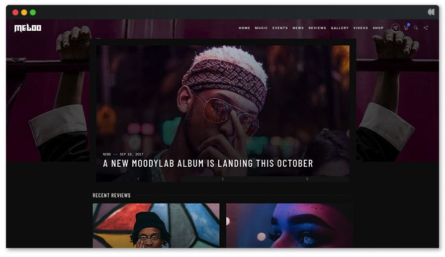 Meloo Music WP Theme