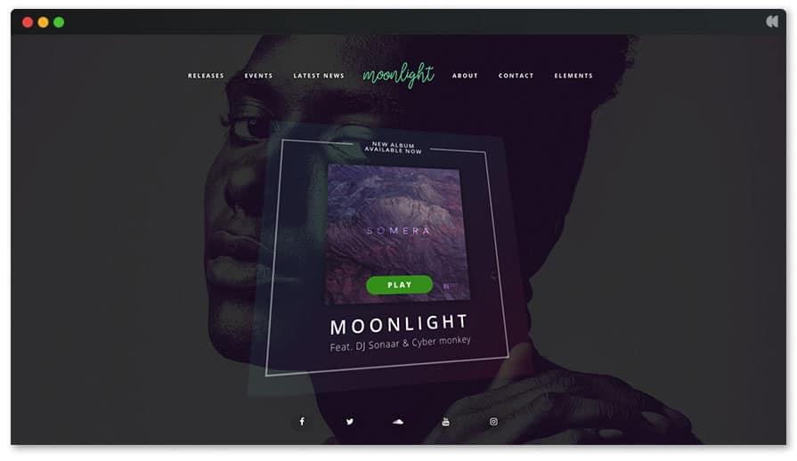 Moonlight WordPress theme for Singer