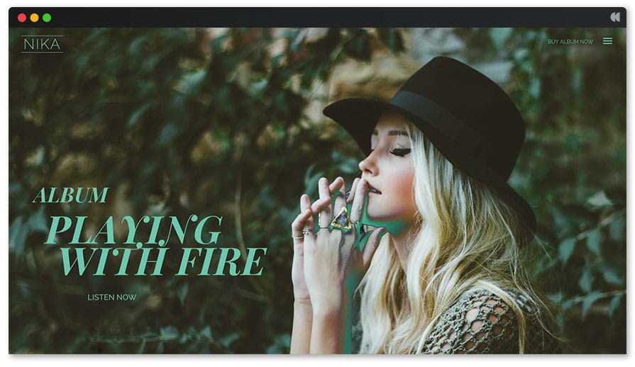 Nika Singer WordPress theme