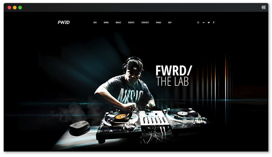 FWRD WordPress theme for DJ