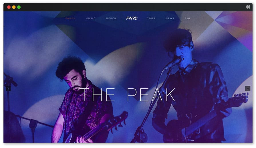 ThePeak DJ WordPress Theme