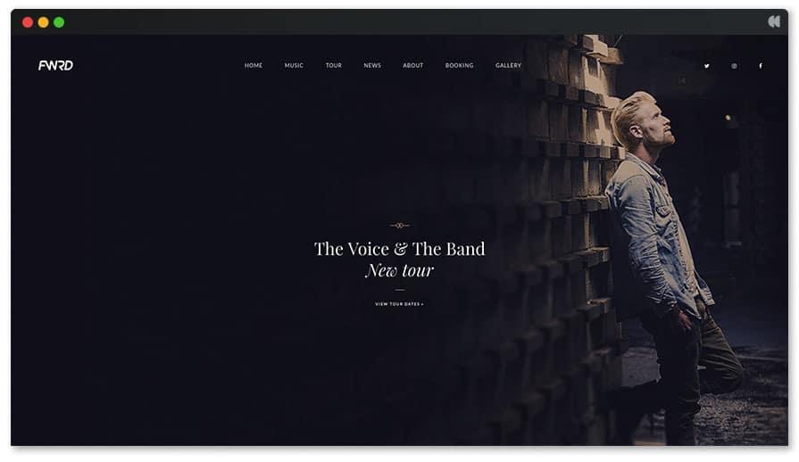 The Voice Singer WordPress theme