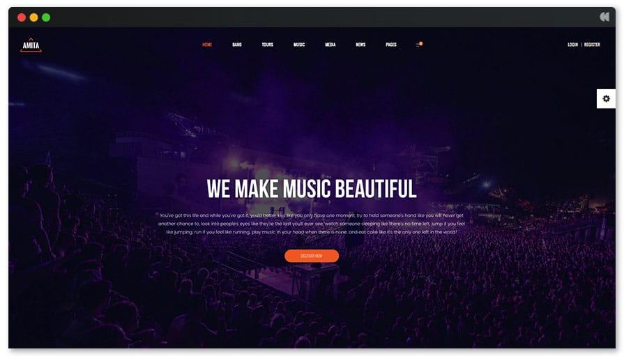 Amita - Full width music wp theme