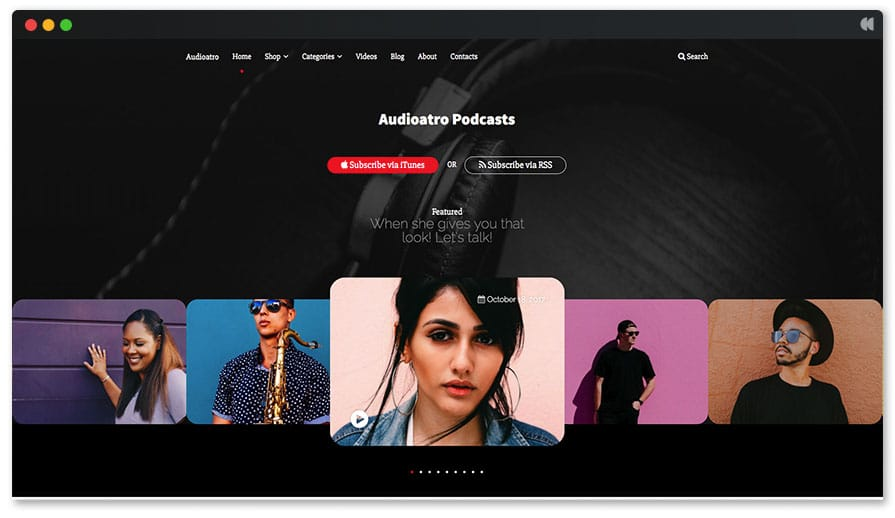 Audioatro - Podcasting WordPress theme