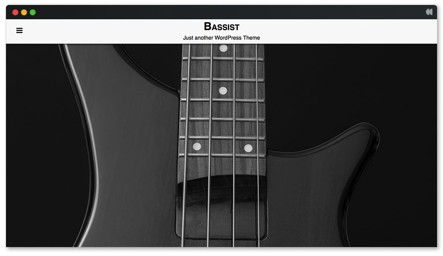 Bassist Free Music WordPress Theme