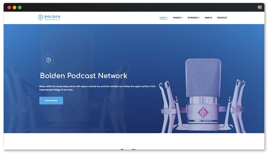 Bolden Podcast Network WordPress Theme