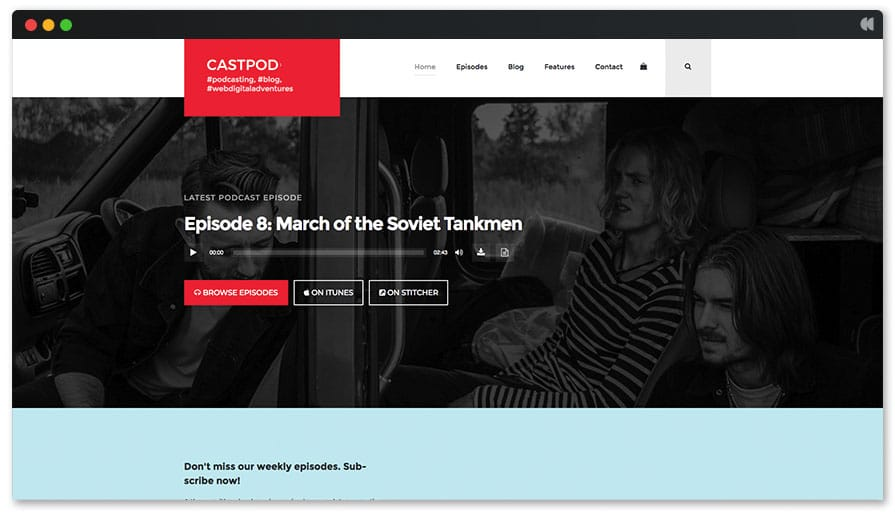 Castpod template for podcasters