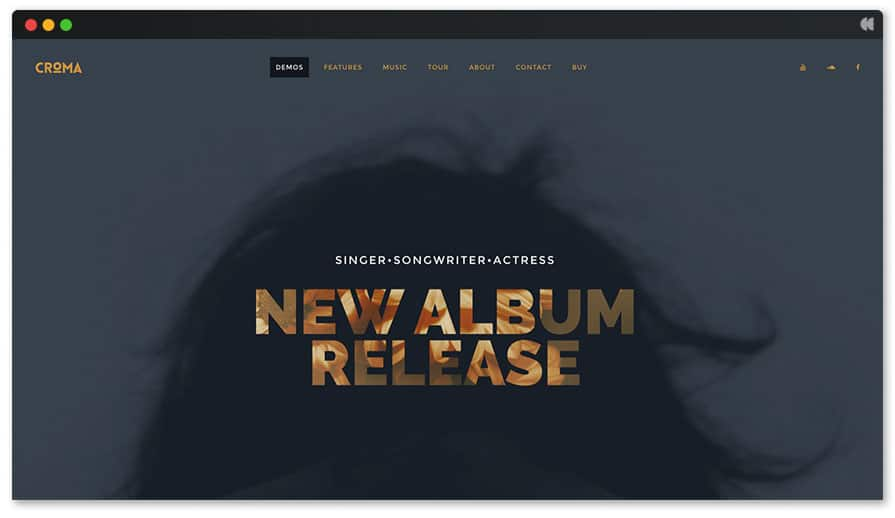 Croma is the best-seller Music WordPress theme on Themeforest.net this year