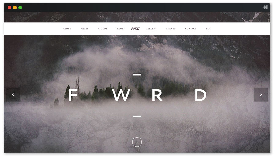 FWRD is a clean full-width page layout WP theme