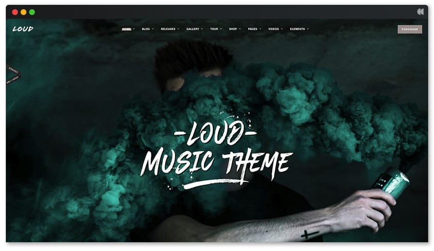 Loud WordPress Music template
