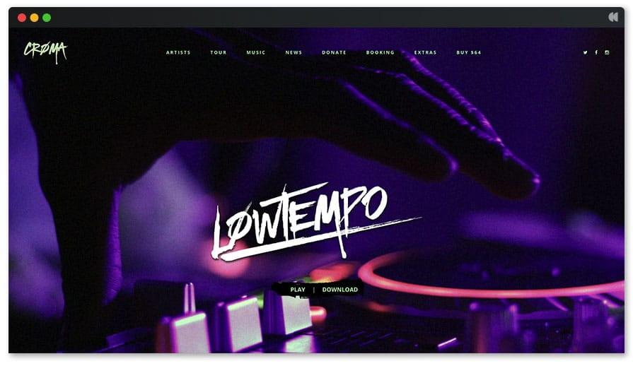 Lowtempo is a new DJ wordpress theme for residents