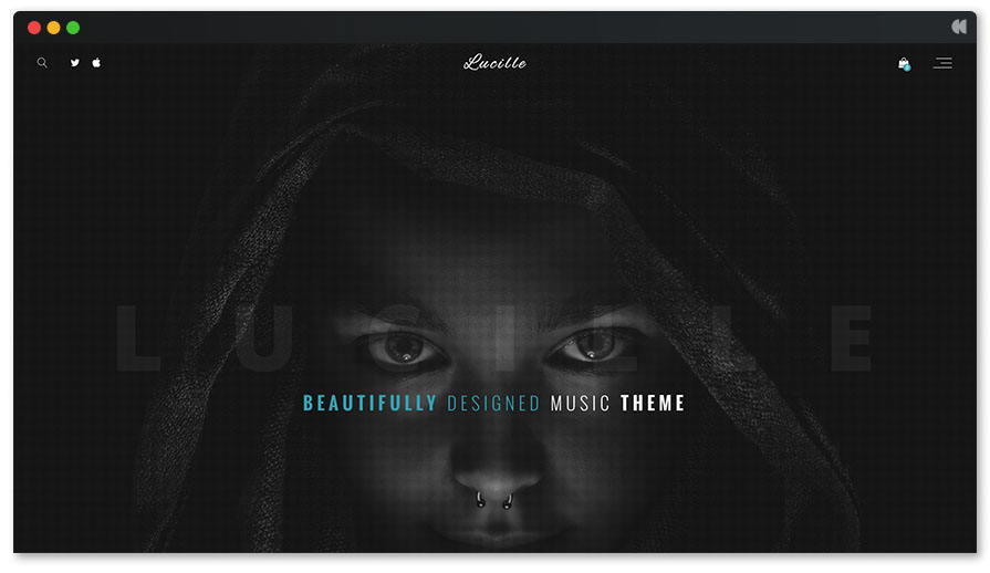 Lucille is a new and trendy music theme for WordPress