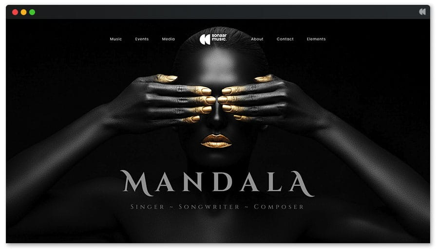 Mandala is an impressive Musician WordPress template