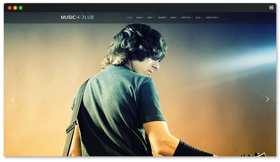 Musicclub is a popular music wordpress theme this year
