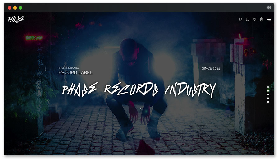 Phase is minimalistic DJ WordPress template