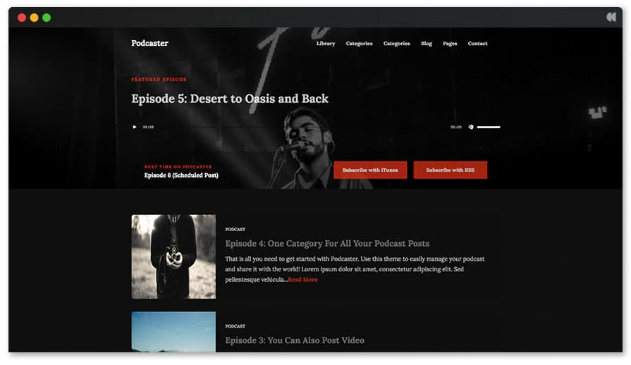 Podcastr WordPress theme for Podcasters