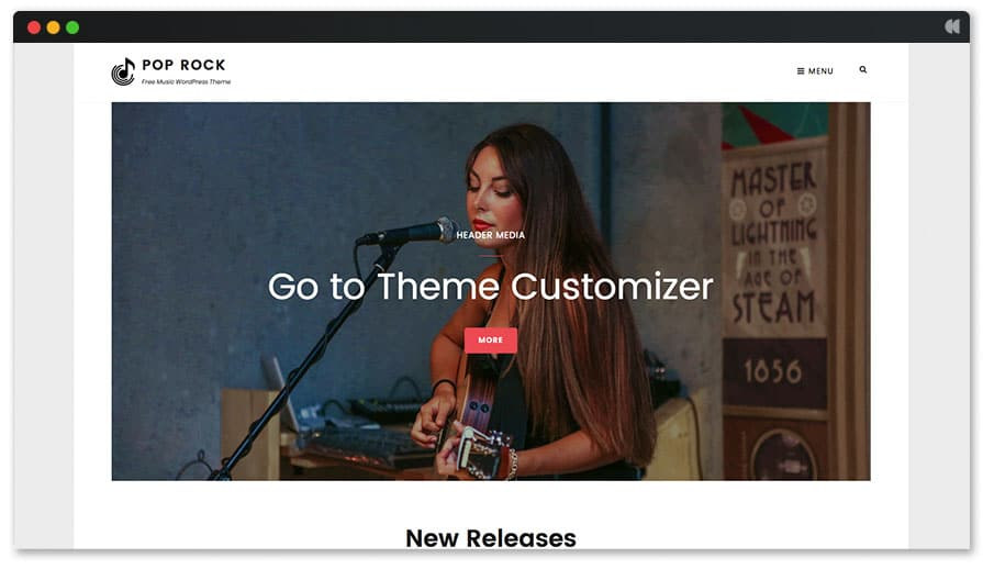 Pop Rock free wordpress theme