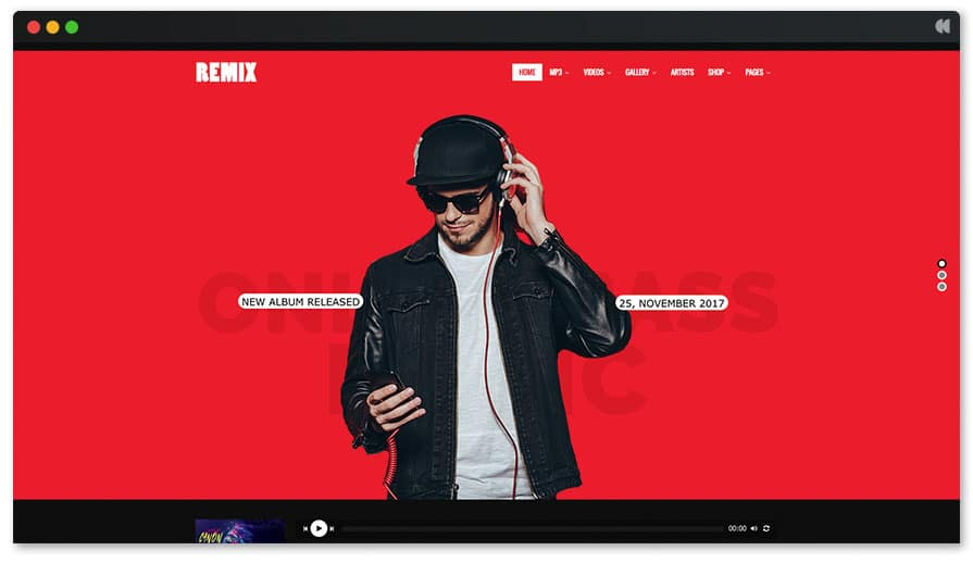 Remix is one of our favorite theme for singer and musician