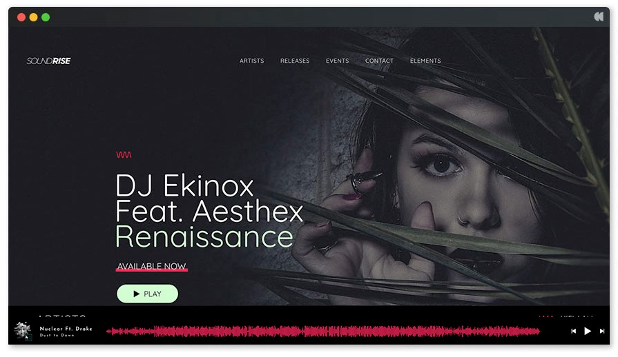 Soundrise is the perfect WordPress theme for Record Labels on themeforest