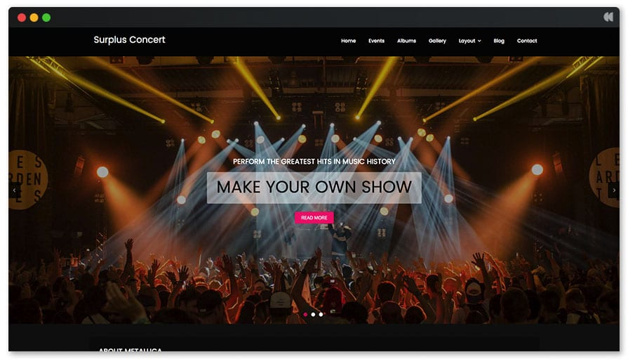 Surplus Concert Free WordPress Theme