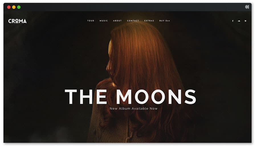 TheMoons is an easy wordpress page builder for musician