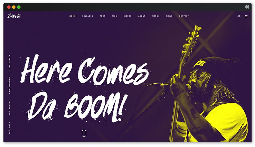 Zample is a funky music wordpress theme