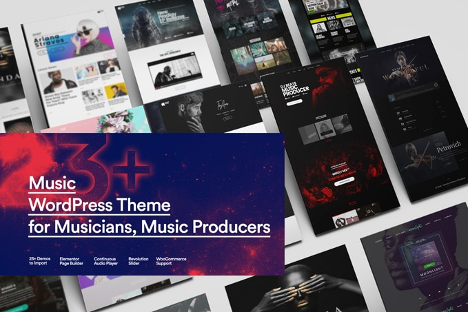 Sonaar Musician WordPress Theme