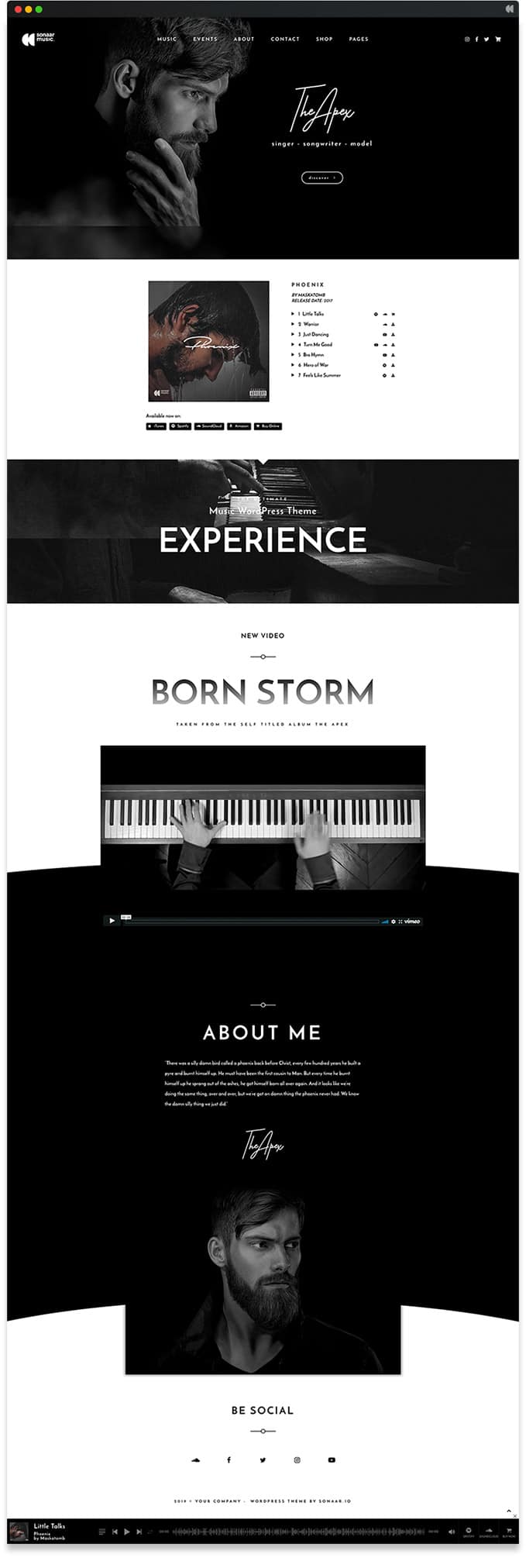 Apex - Best Music WordPress Theme Free
