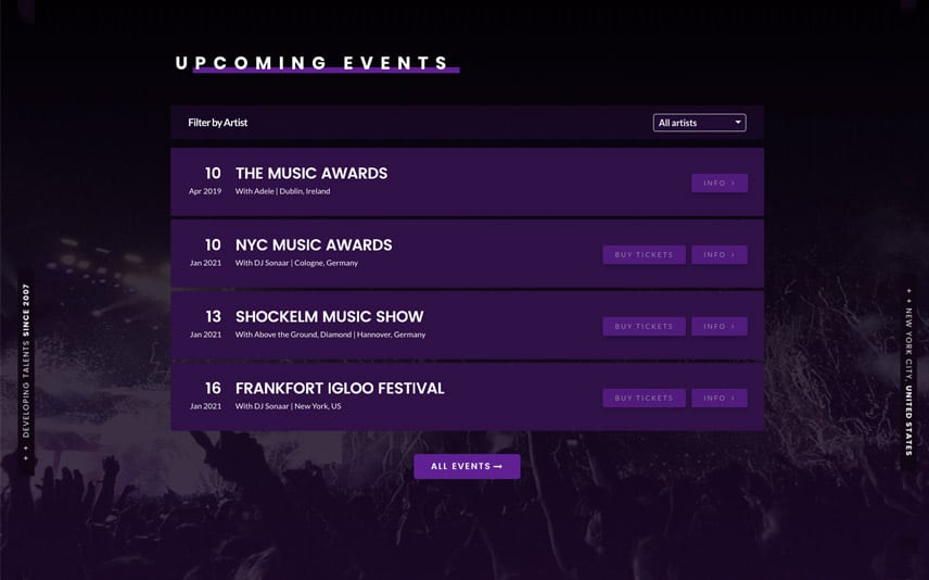 Promote your music event and festival