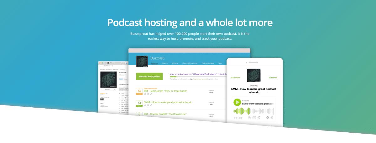 Buzzsprout hébergera facilement votre podcast
