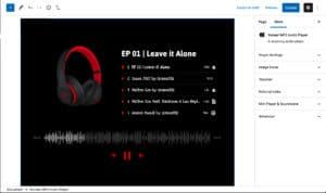 Block Editor Music Player