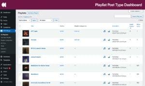 Playlist Custom Post Type