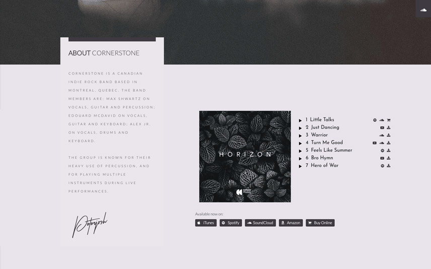 Record Label WordPress Theme