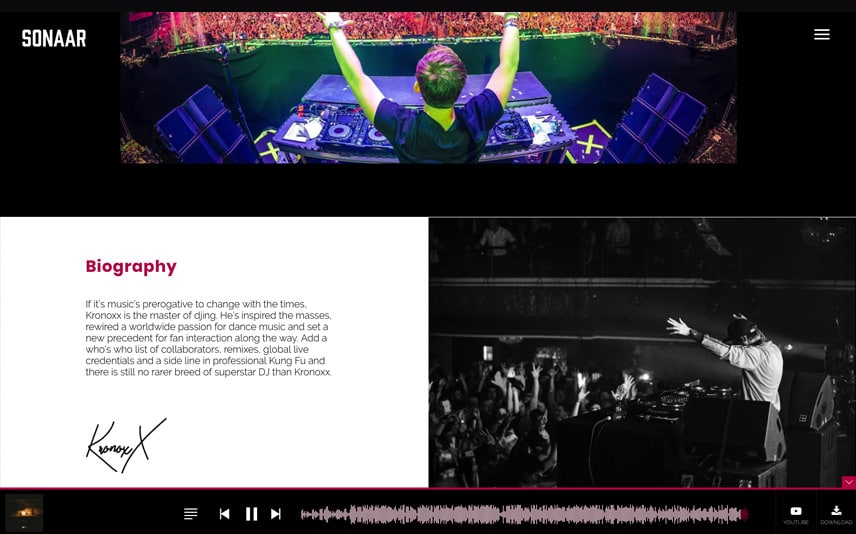 Musician WordPress Theme for Electro music